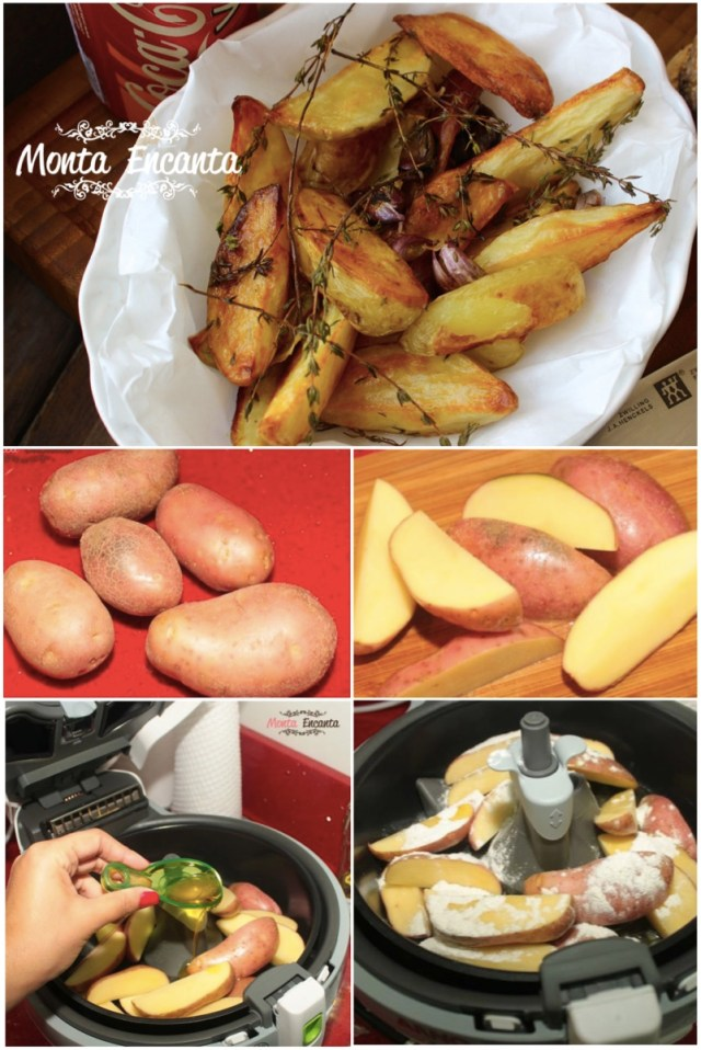 Batata Rústica - Maquina que frita sem Óleo