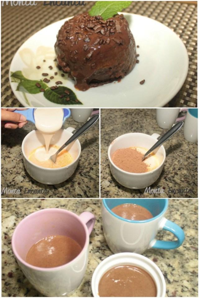 Pudim de Chocolate na Caneca