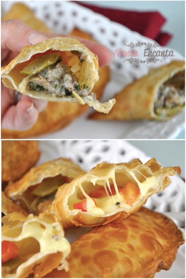 Pastel de feira - carne e queijo