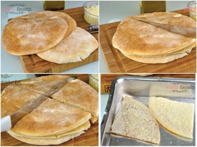 Torradinha pão sírio