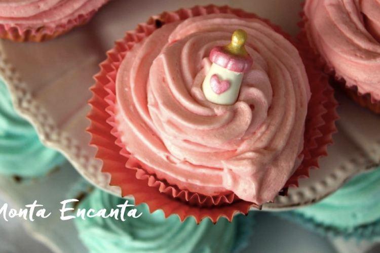 Cupcake de Cenoura com Brigadeiro, chá revelação!