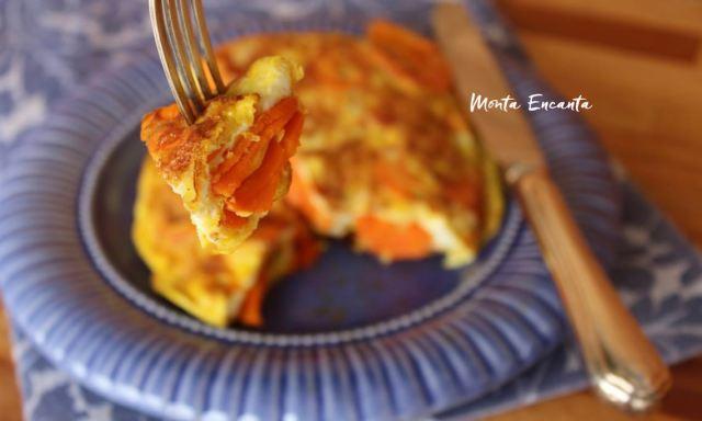 tortilha de cenoura com manteiga