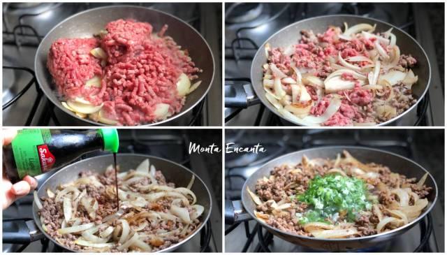 carne moida com shoyo