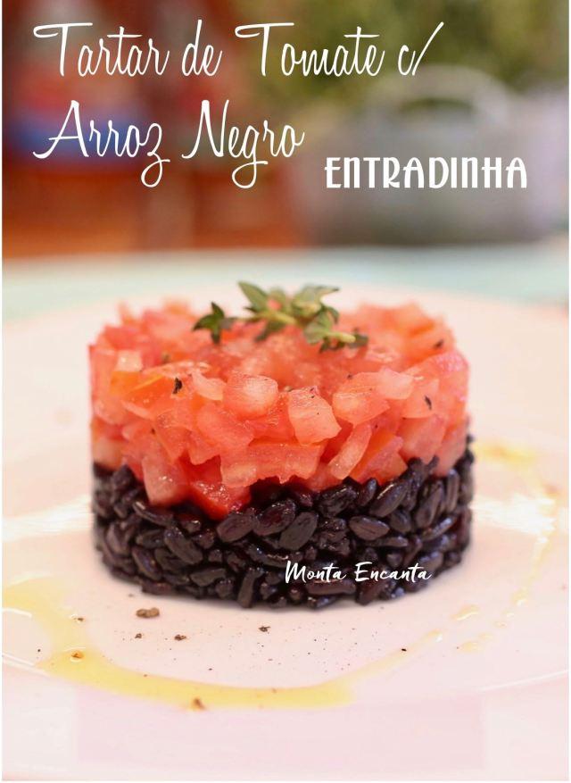 tartar de tomate com arroz negro