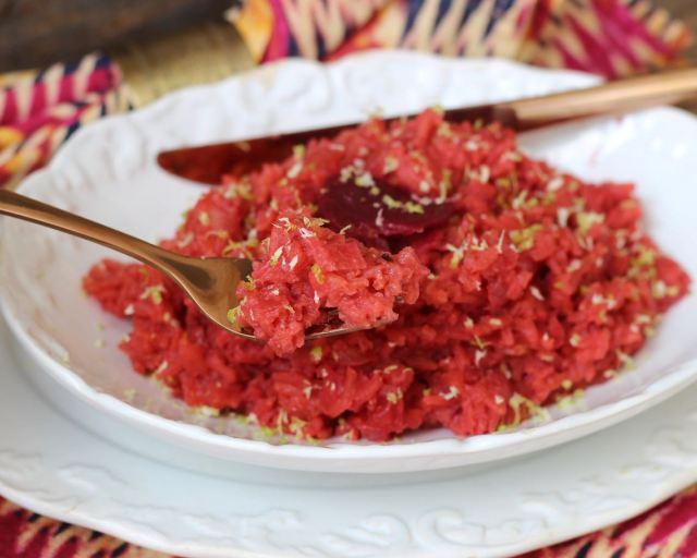 arroz de beterraba
