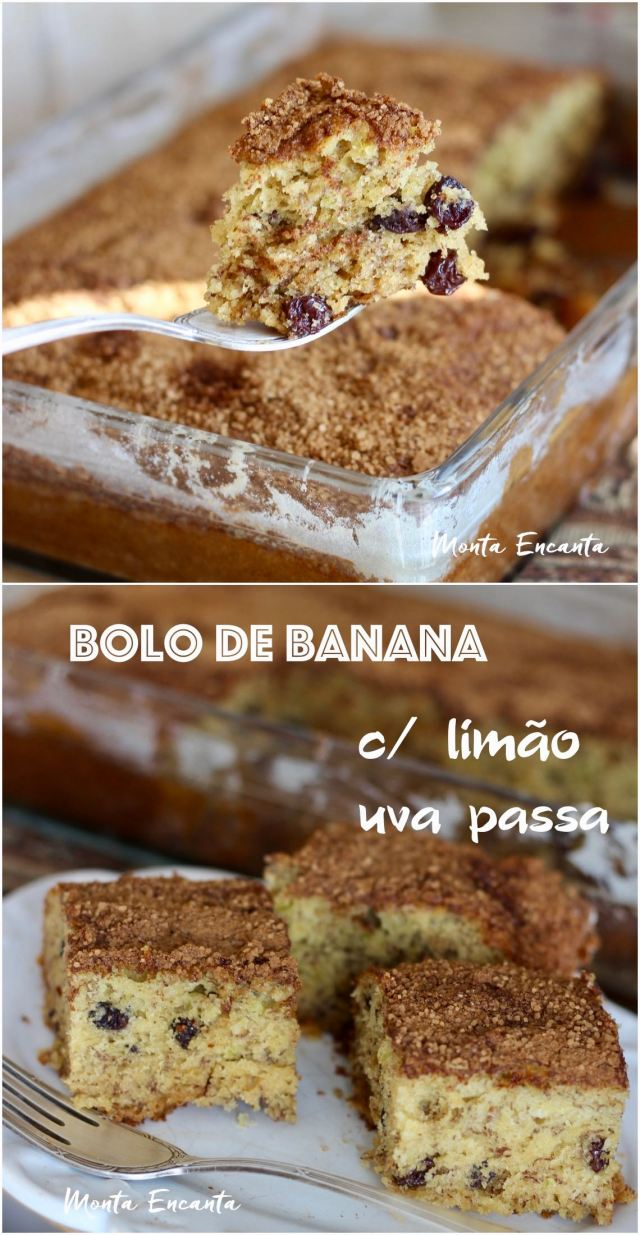bolo de banana fofinho