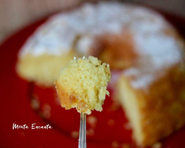 bolo de laranja com calda