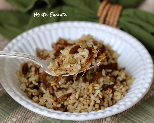 Mjadra 7 grãos,  arroz integral à moda árabe!