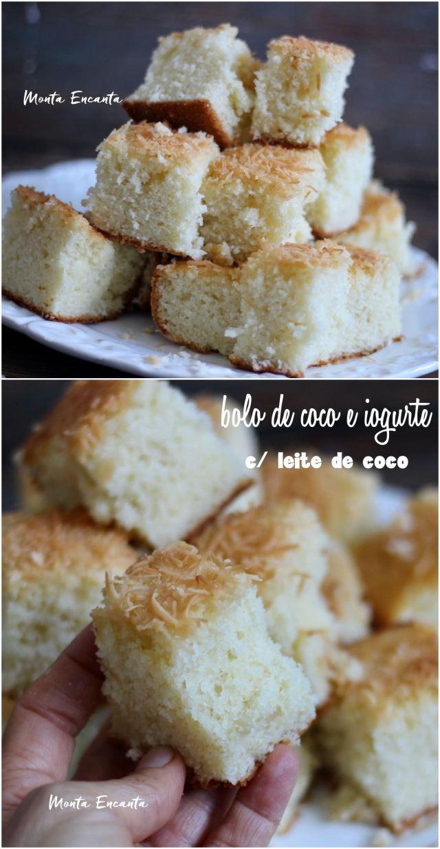 bolo de coco e iogurte com leite de coco