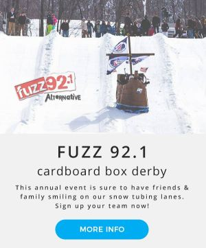 Montage Mountain Fuzz 92.1 Cardboard Box Derby