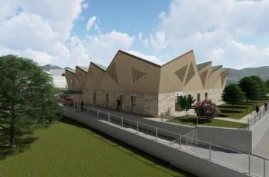 Il rendering 3D della Casa della Montagna