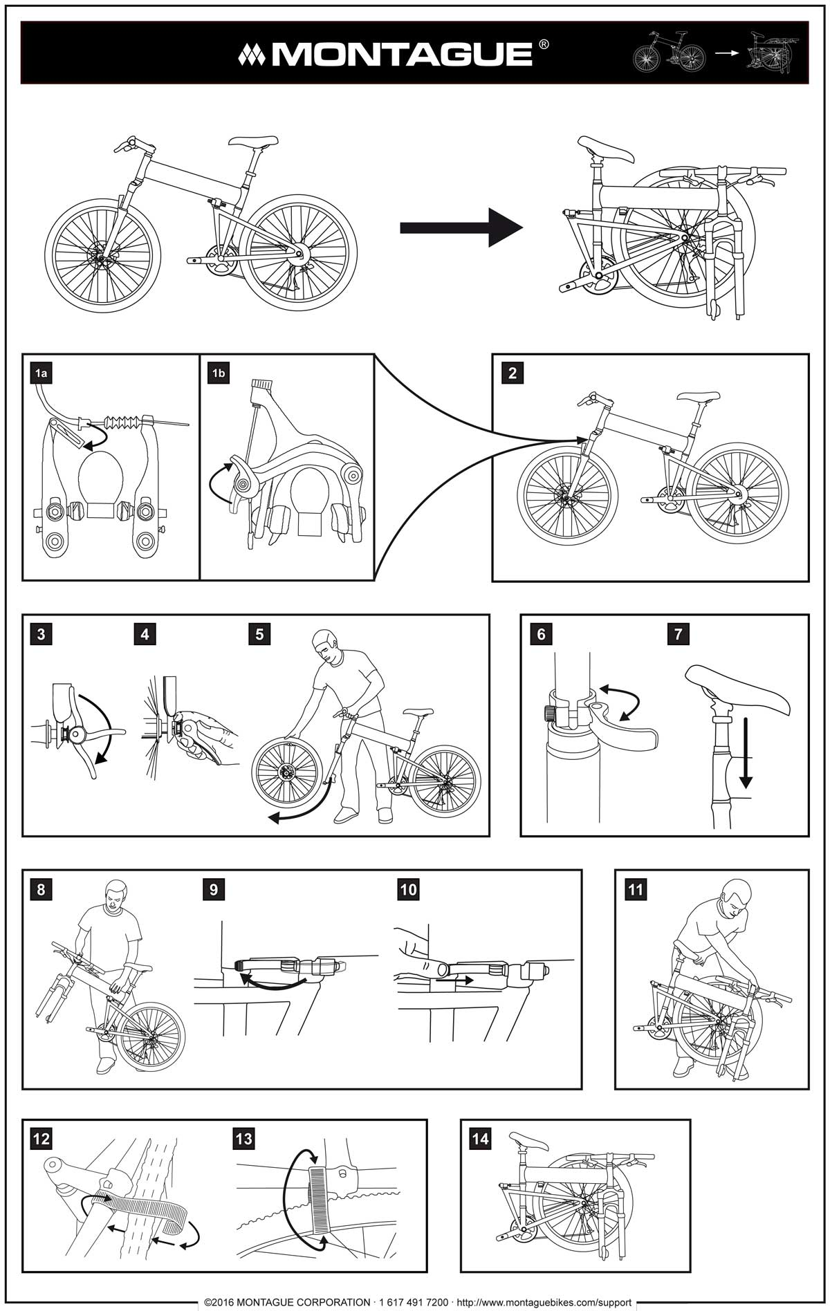 hight resolution of montague bike folding instructions diagram