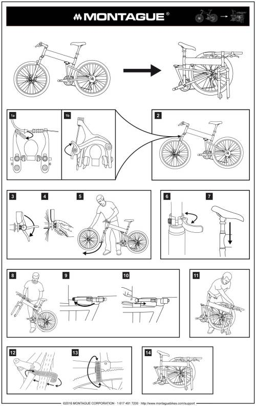 small resolution of montague bike folding instructions diagram