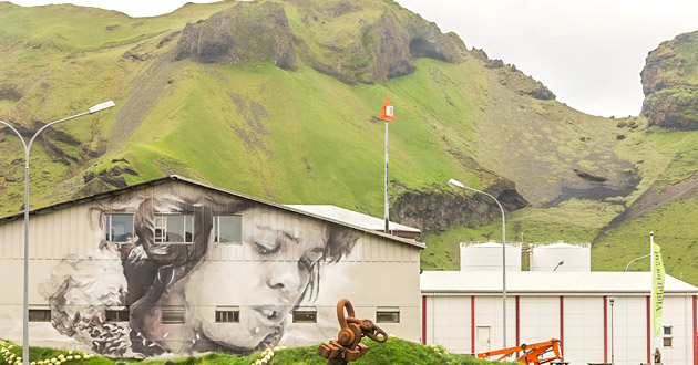 Guido Van Helten New Wall In Vestmannaeyjar