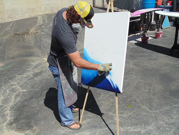 Nelscott Painting with Spray Paint Drew Brophy