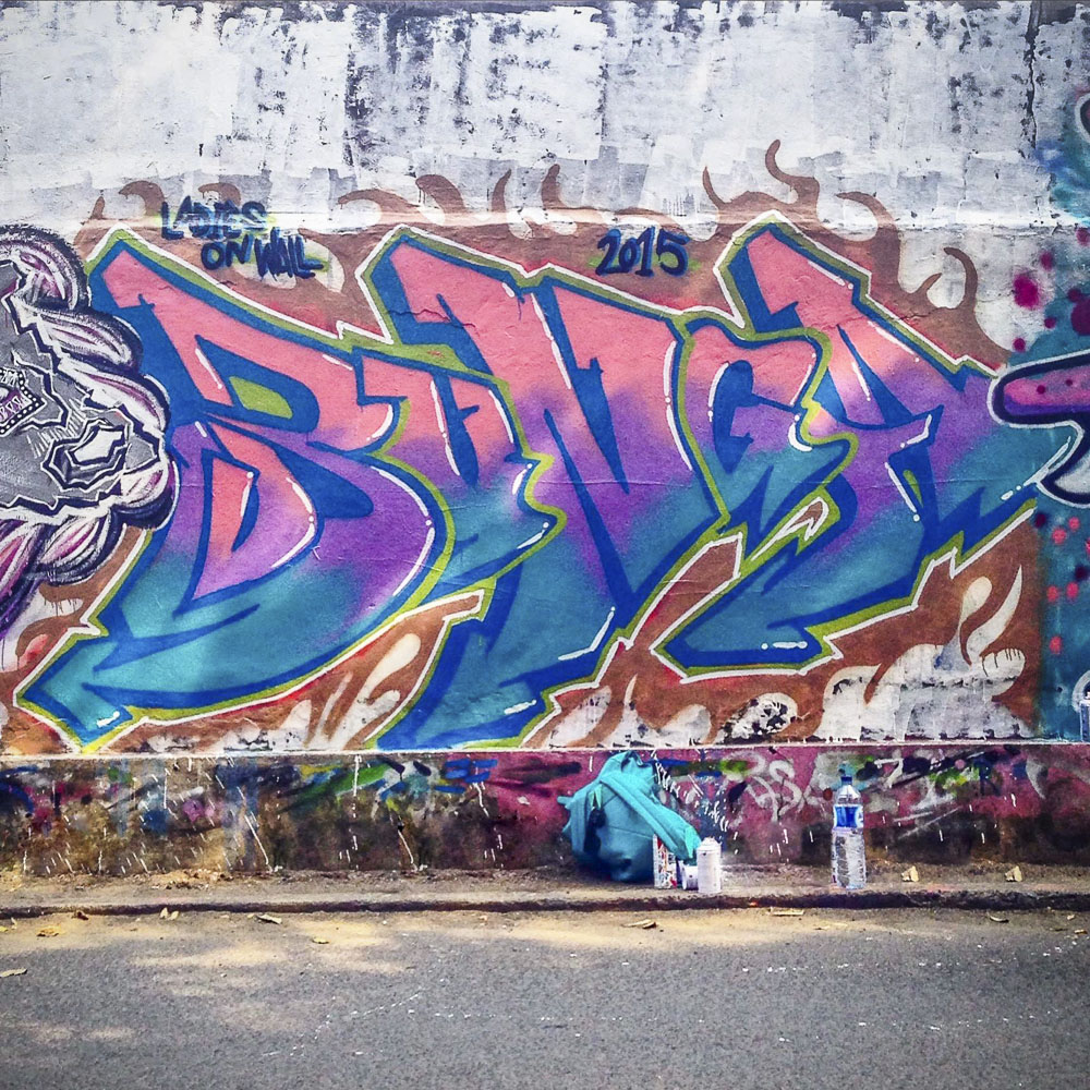Ladies on wall in indonesia interview with graffiti artist bunga