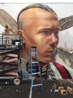 Native American mural