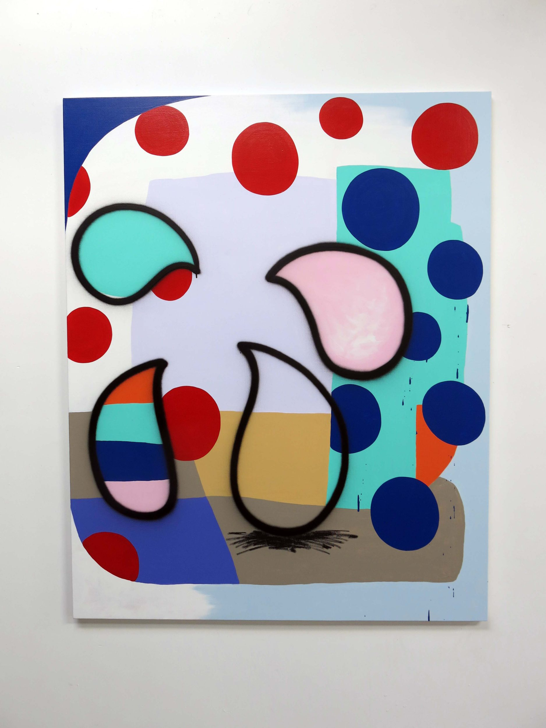 Bruce, Untitled 3, 2018, Acrylics and spray paint on canvas, 130 x 160cm