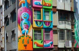 Nicolas Barrome at Kaohsiung Street Art Festival
