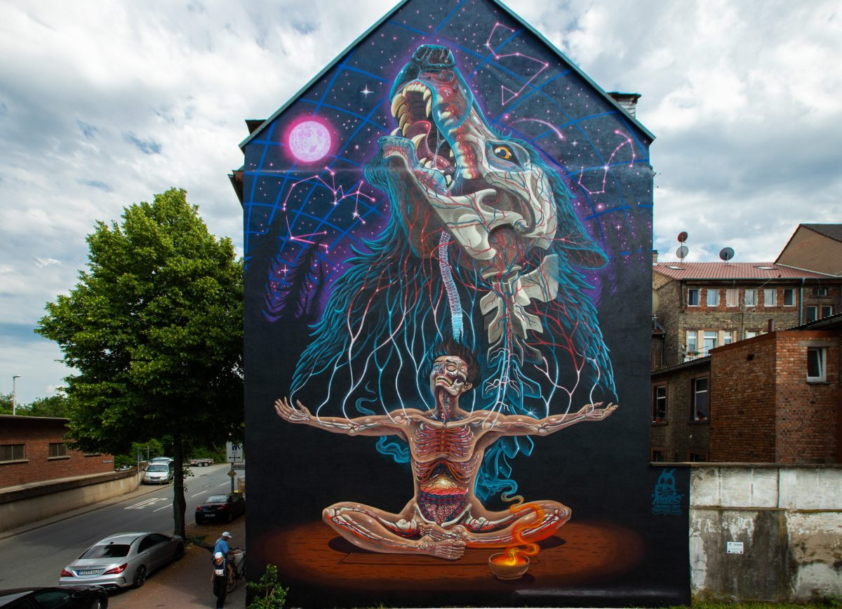 """NYCHOS MURAL """"PRIMAL TRUTH"""""""