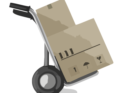 trolley carrying boxes