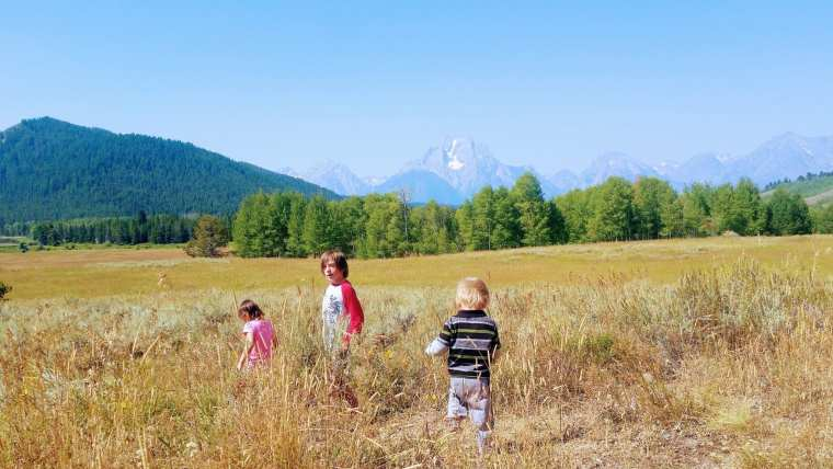 Grand Tetons and the kids run wild