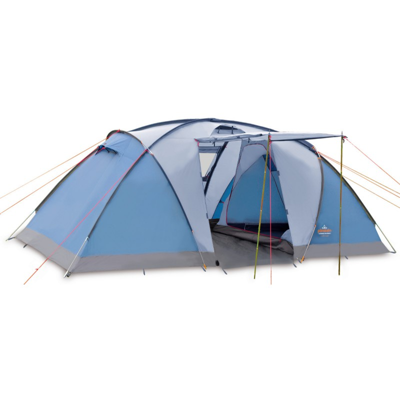 Tente De Camping BASE CAMP 4P Bleue Pinguin Outdoor