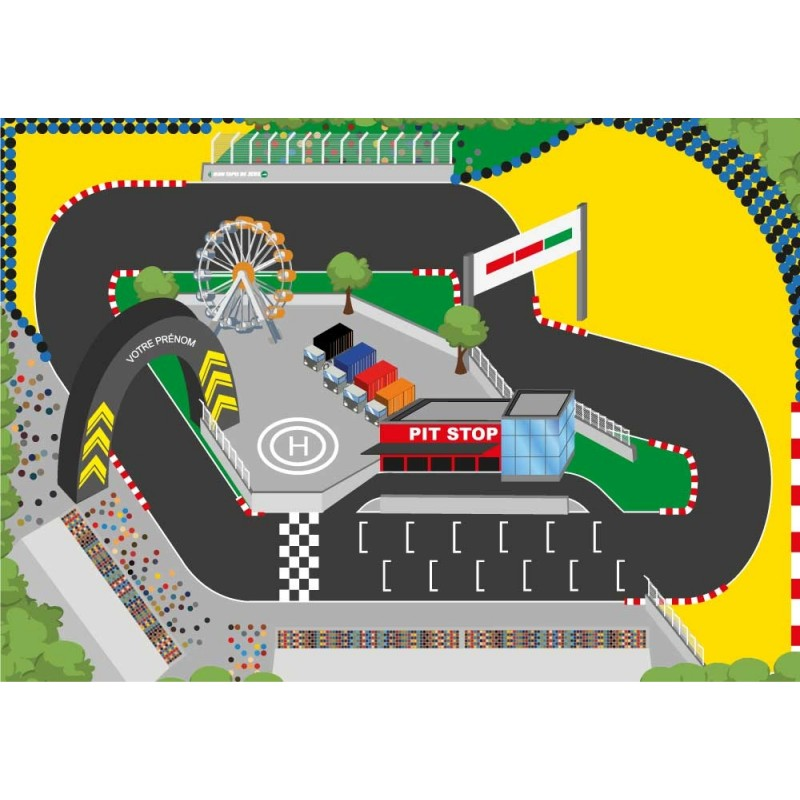 tapis circuit voiture course auto