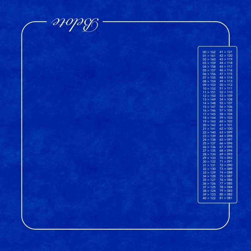 tapis belote bleu