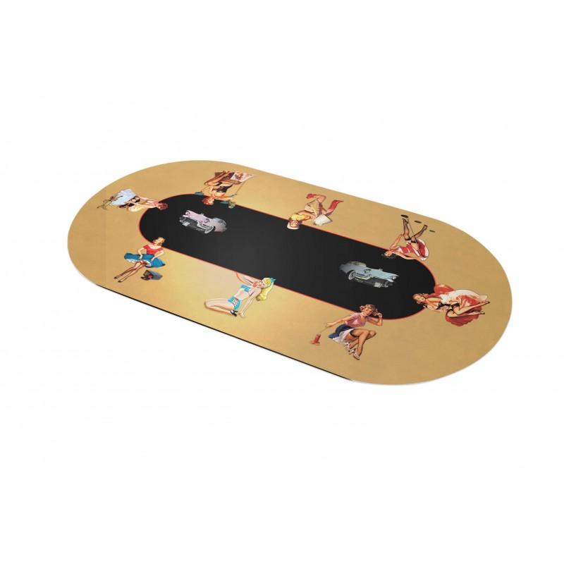 tapis de poker ovale