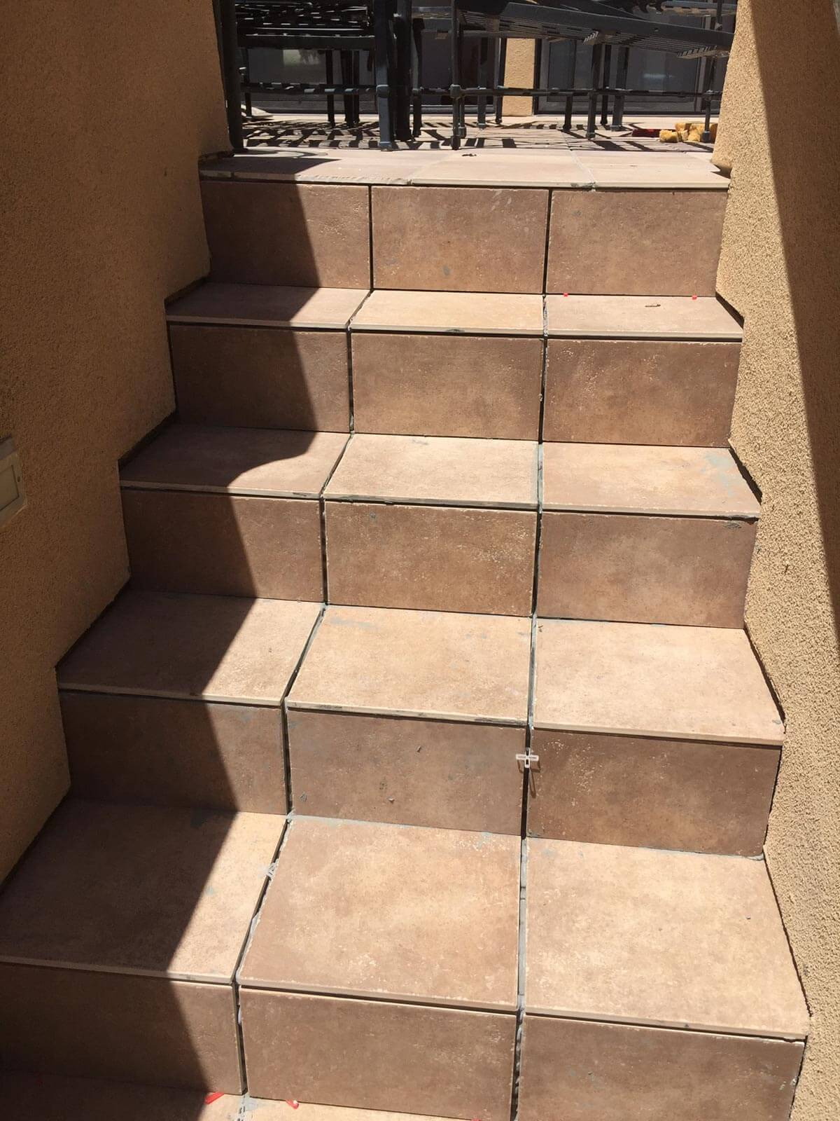 Tile Deck Stairs  Montclair Construction and Foundation