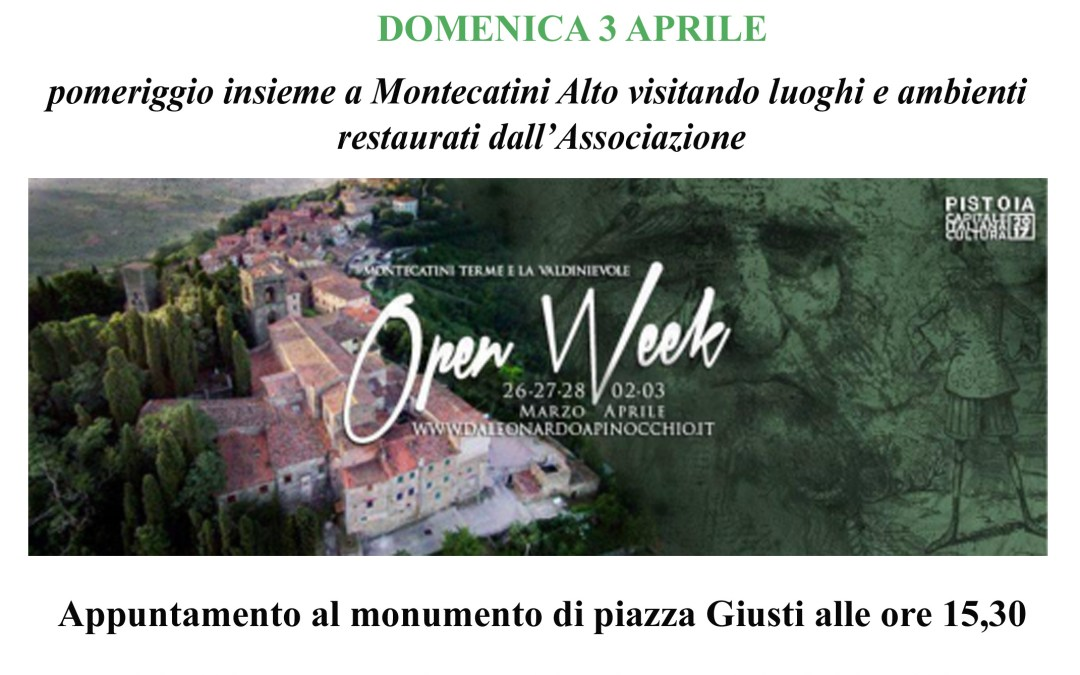 Open Week Montecatini Alto