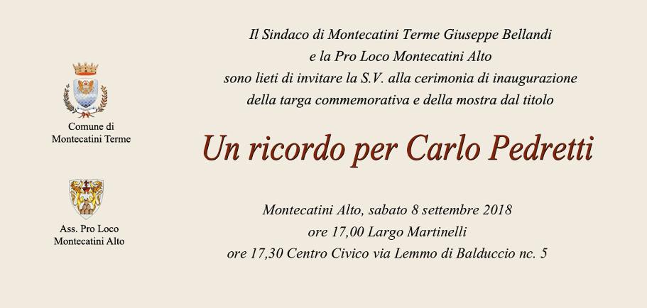 Un ricordo per Carlo Pedretti