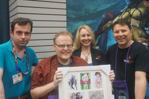 Teó with Monte, Shanna, and Bruce at Gen Con 2016