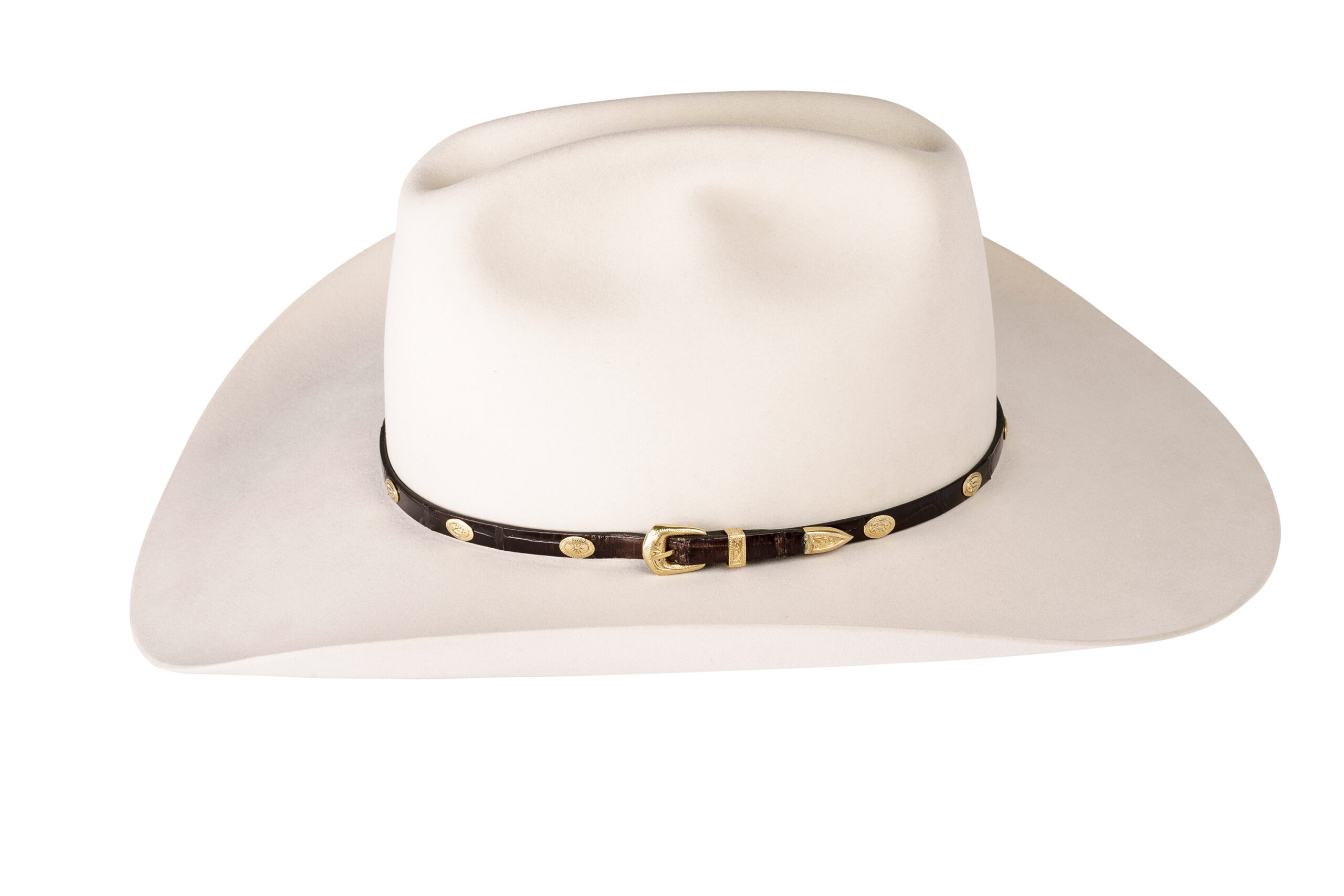 Kallas 18K Gold Engraved Concho Hat Band