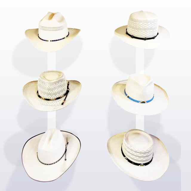 Group of Different Styles of Panama Hats