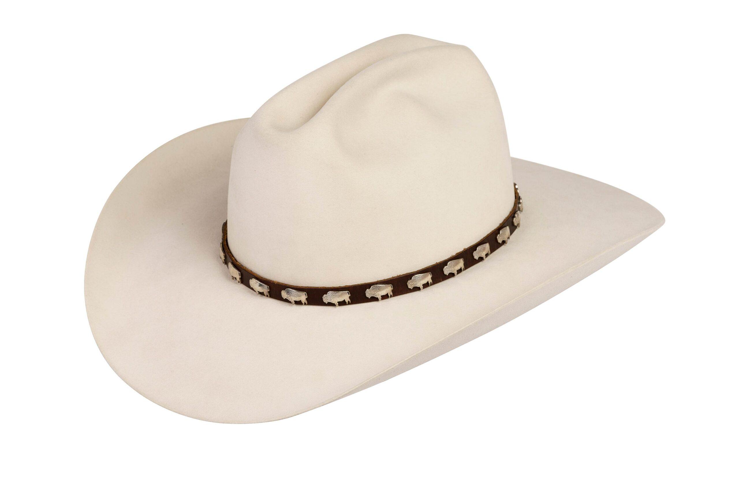 Vinella Small Sterling Buffalos Hat Band