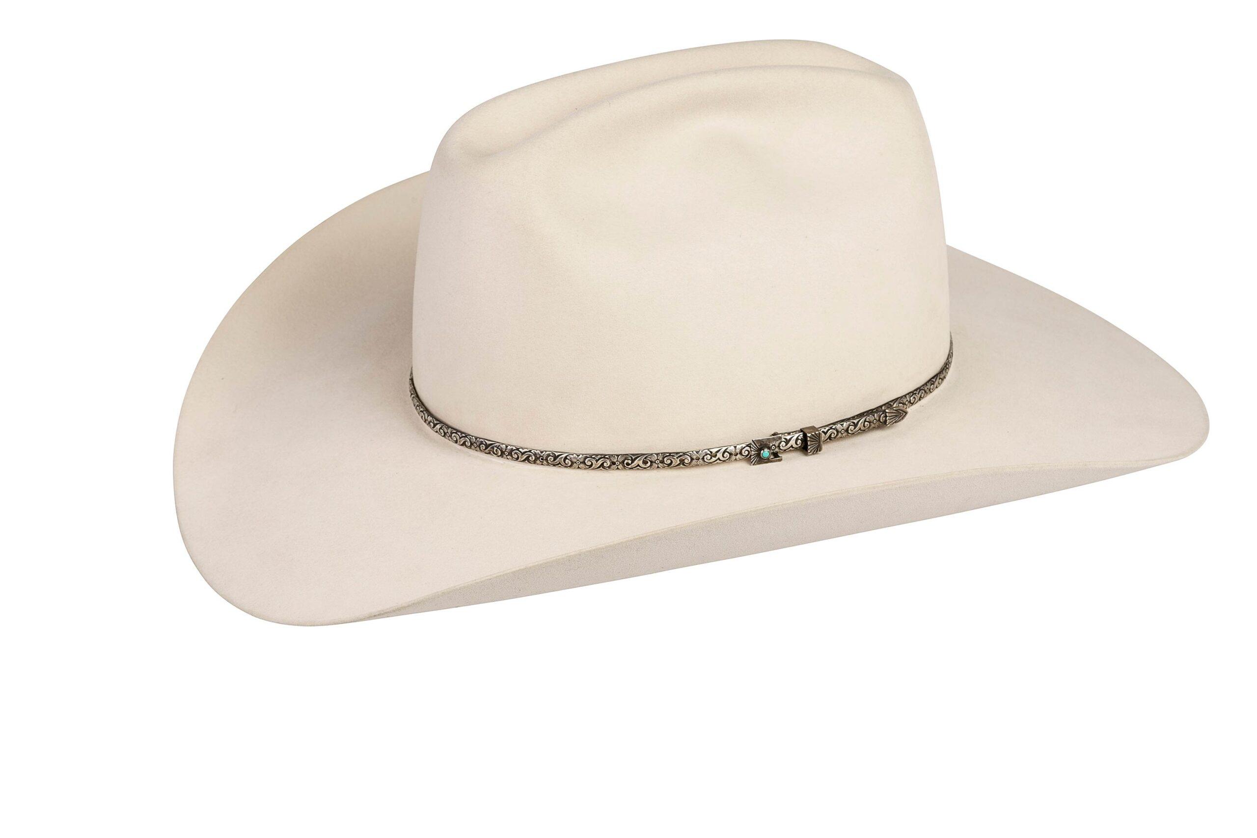 White Buffalo Narrow Floral Hat Band