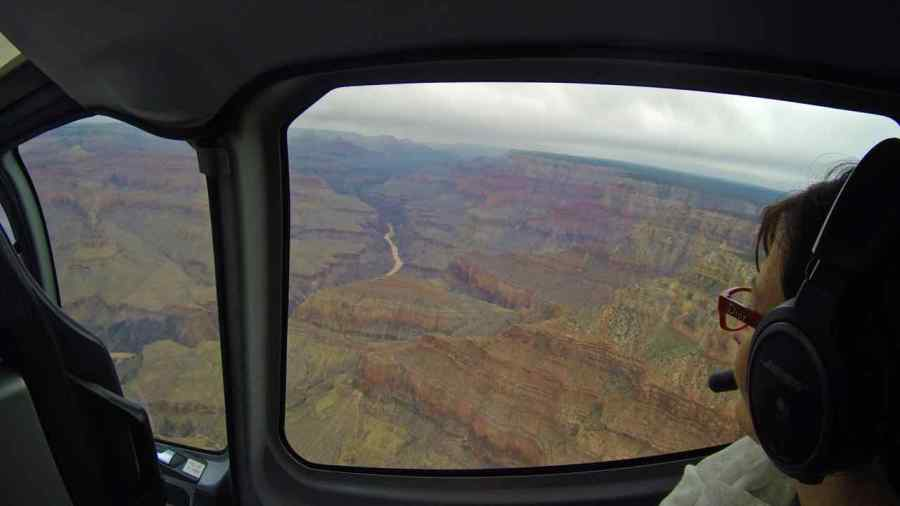 In volo sul Grand Canyon