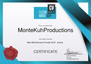 Zertifikat Best Web Service Provider