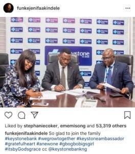 Funke Akindele Endorsement