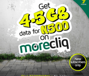 Get 4.5GB for N500 on 9mobile