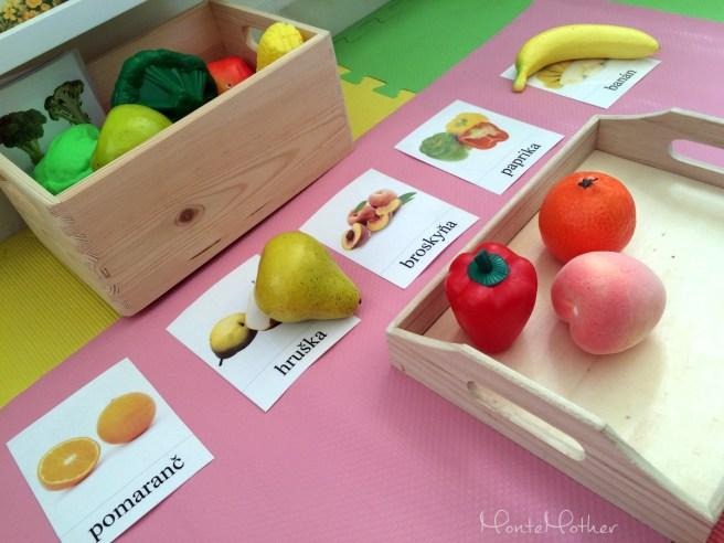Montessori priradovanie ovocia a zeleniny