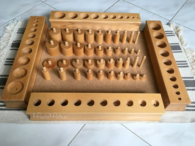 montessori cylinders with knobs