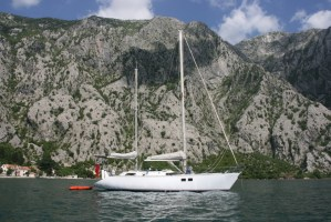 Beautiful Yacht Monty B in Kotor Bay Montenegro
