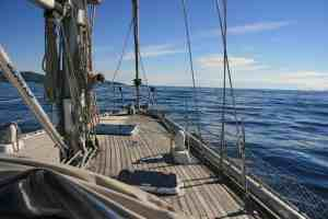 yacht monty b blue sky and sea