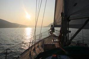 Summer sailing in Tivat Bay