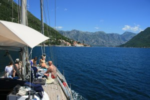 Boat trip in Kotor Bay Montenegro for cruise ships