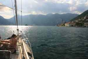 Sightseeing boat trip at Perast Kotor Bay Montenegro