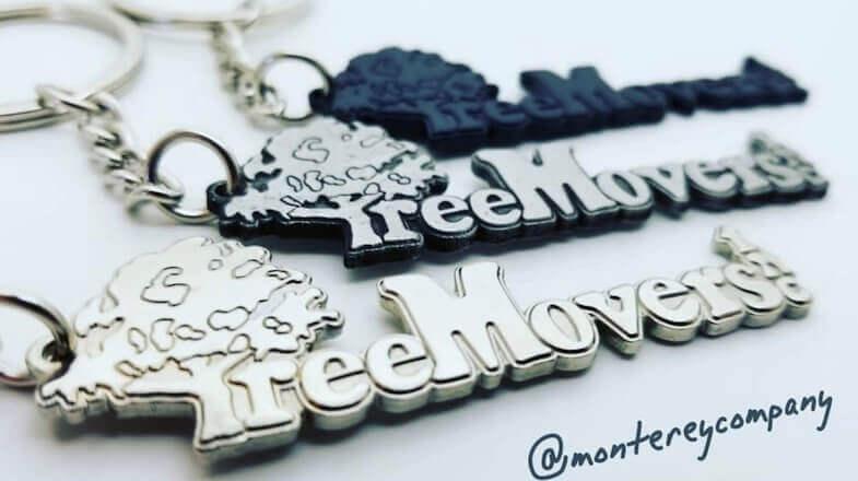 custom keychains logo metal